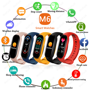 2021 M6 Smart Band Watches Women Men's Watch Blood Pressure Monitor Sports Fitness Bracelet Smartwatch For Apple Xiaomi Android 1