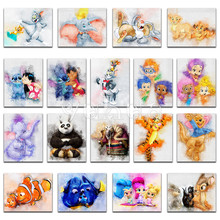 5D Diamond painting Mickey Cartoon Dumbo Winnie Pooh cat girl Full Square embroidery Cross stitch Round mosaic
