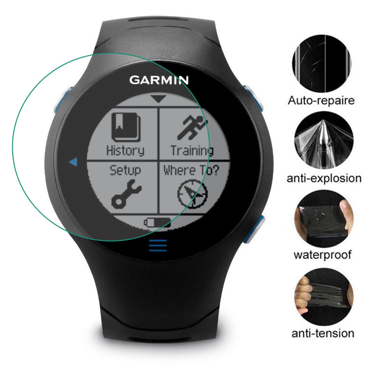 3pcs Soft Clear Protective Film Guard For Garmin Forerunner 610 Watch Fr610 Smartwatch LCD Screen Protector Cover Protection
