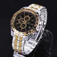 ORLANDO marque hommes montres Quartz argent-or acier inoxydable montre-bracelet mâle robe classique montre d'affaires masculino Relogio
