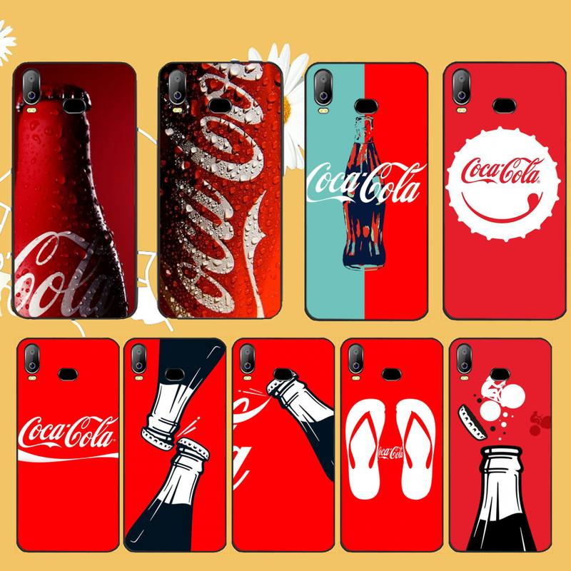 NBDRUICAI Drink Cola Soft Silicone Black Phone <font><b>Case</b></font> For <font><b>Samsung</b></font> A10 A20 A30 A40 A50 <font><b>A70</b></font> A71 A51 A6 A8 2018 image