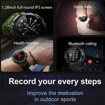 LEMFO K22 T Rex Pro Smart Watch Men 400Mah Big Battery Music Play Fitness Tracker Bluetooth Call Sport Smartwatch 2021 PK T Rex 3