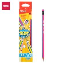 DELI Graphite Pencils for School 1 Box(12PCS)  HB/2B Pop cute Pencil Drawing Pencil Set Pencils for Kids  EU52400 EU52600 недорого