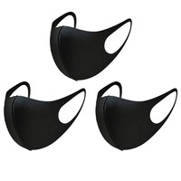 Carbon Fiber Face Outdoor Anti-Haze Face Lightweight Face Shield Dust Mouth 3pcs Washable Fabric Face Mask Reusable#T2
