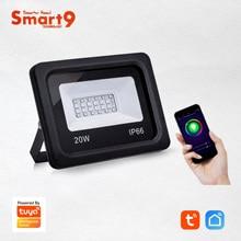 Светодиодный прожектор Smart9, светодиодный светильник Wi Fi, работает с приложением Smart Life, совместимый с Alexa и Google Home, на базе TuYa