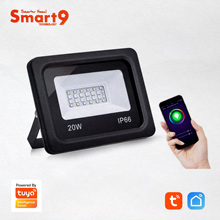 Smart9 Wifi מבול אור עבודה עם חכם חיים App, LED מקרן אור תואם עם Alexa ו google בית מופעל על ידי TuYa