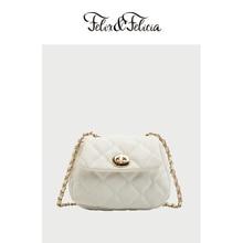 FELIX&FELICIA Brand PU leather shoulder bags for women ladies fashion lingge square crossbody chain bag female retro small