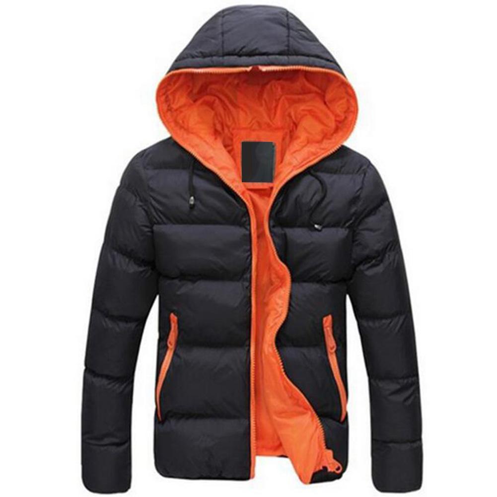 Зимняя мужская куртка 2019, модная мужская парка со стоячим капюшоном и воротником, мужские плотные куртки и пальто, мужские зимние парки M 4XL
