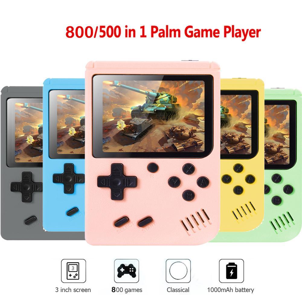Intégré 500/800 jeux classiques rétro Portable Mini Console de jeu vidéo Portable 3.0 pouces écran LCD joueur de jeu enfants cadeau Gamepa