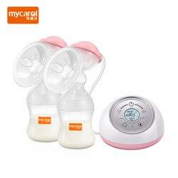 MyCarol двойной Электрический молокоотсос, перезаряжаемый аккумулятор, насос для грудного вскармливания, BPA, Бесплатная XN-D212