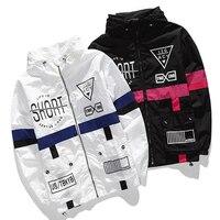 Spring Autumn Men's Windbreaker Brand Fashion Hip Hop Slim Casual Zipper Jacket Men Anorak Outerwear J904