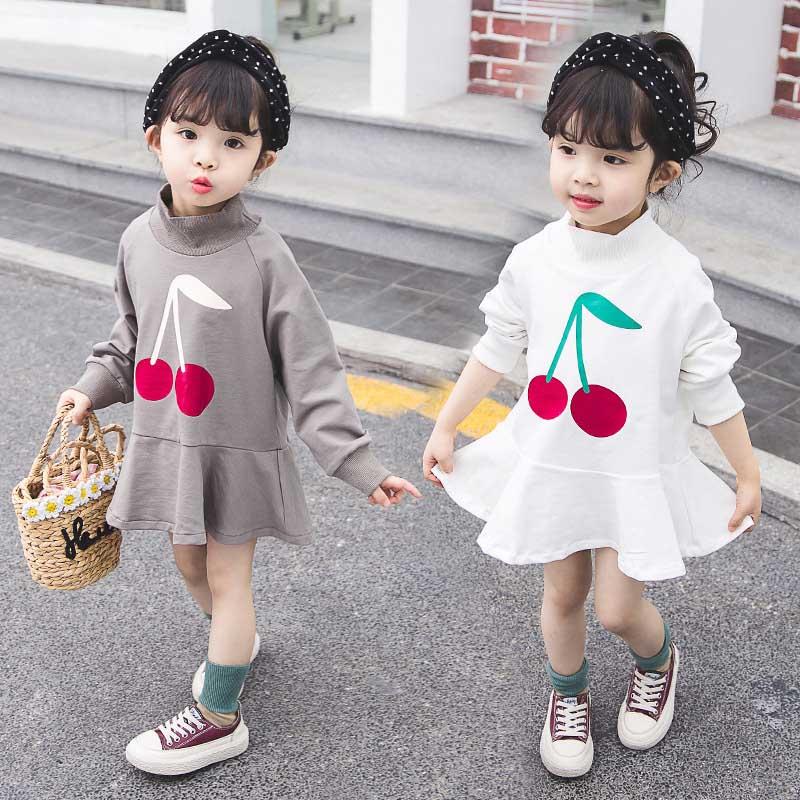 Vestidos para meninas vestido infantil 2019 bonpoint outono algodão manga longa vestido meninas festa princesa traje meninas vestido de inverno
