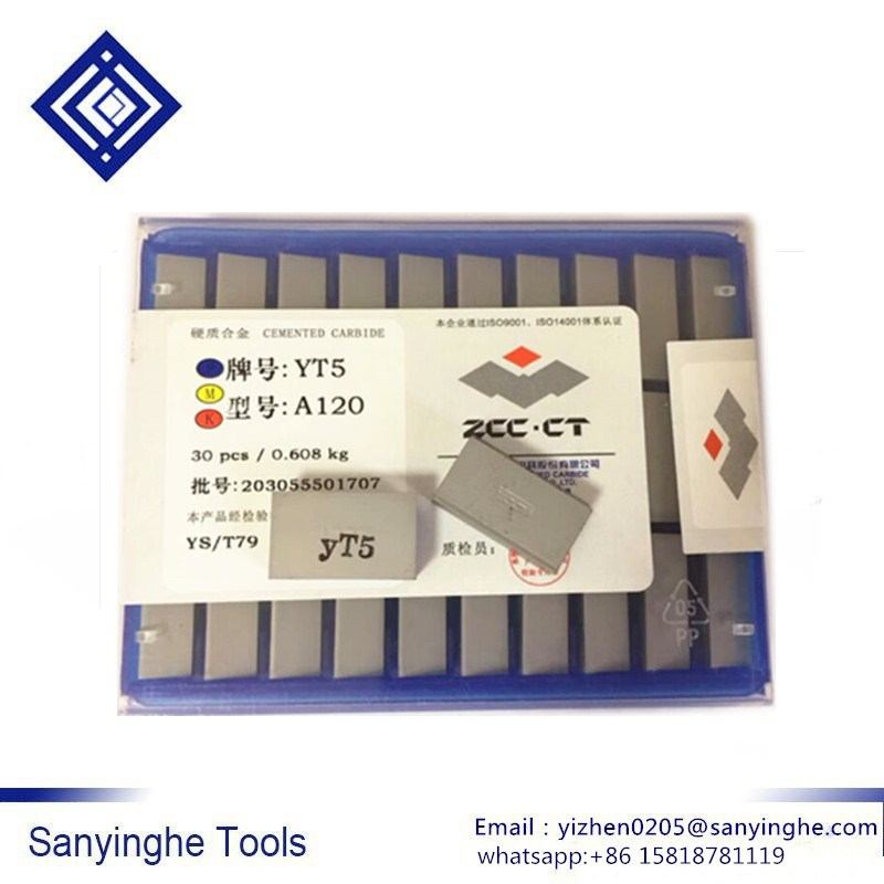 Original zccct A120 YG6 / YG8 / YW1 / YW2 / YT5 / YT14 / YT15 carbide welding inserts brazed insert (30pcs/lots )-in Turning Tool from Tools    1