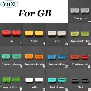 YuXi 13Color Yellow green Red Grey Black Dust Cover For Game Boy for GB Game console Shell Dust Plug Plastic Button For DMG 001 red dust novel