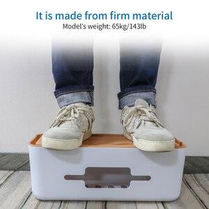 Image 5 - Boîte de gestion de câble de boîte de rangement de bande dalimentation en plastique dur de NTONPOWER avec le support et la couverture antipoussière pour la sécurité à la maison