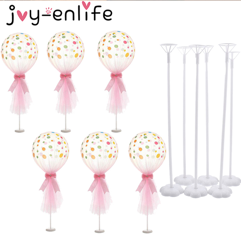 Wedding Table Balloon Stand Balloon Holder <font><b>Support</b></font> Base Table Floating Wedding Table Decoration Baby Shower Birthday Decoration image