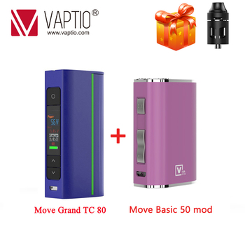 цена на GIFT ! Vape Mod Electronic Cigarette Move Grand TC 80W Box Mod Fit Atomizer 510 Thread 18650 Battery (Without Battery)