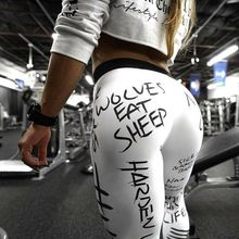 Goocheer Workout Pants Sport Leggings Women Fitness Gym Tights S-XL Love Squats Pants 3D Print  Elastic High Waist Slim Legging