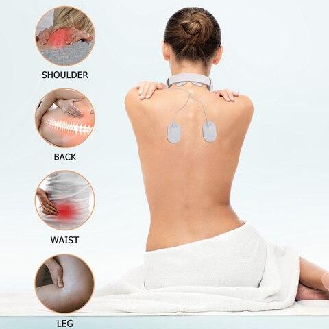 usb rechargable pulso pescoco massager infravermelho distante