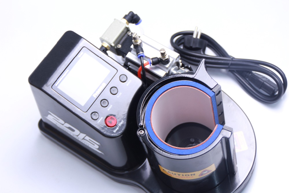 Free shipping 3D Cup heat press machine Mug printing mini pneumatic automatic pneumatic Cupthermal mug thermal transfer machine