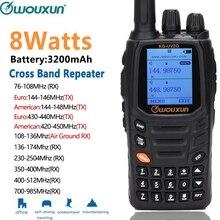 Wouxun KG UV2Q 8 watów wysokiej mocy 7 pasm/pasma powietrza Cross Band Repeater Radio przenośne Upgrade KG UV9D Plus radio Walkie Talkie