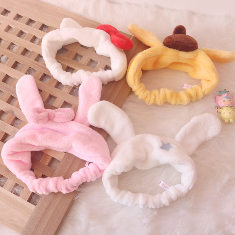 1pc Cute Cartoon Melody Hair Band Big Ears Cinnamoroll Dog Headwear Headband Cosplay Hair Accessories