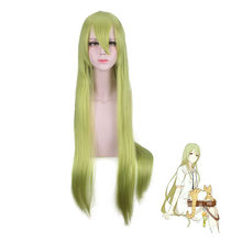 Fate/Grand Order Lancer Enkidu cosplay wig green 100 CM Enkidu long straight green Synthetic hair party common Cosplay wigs(China)