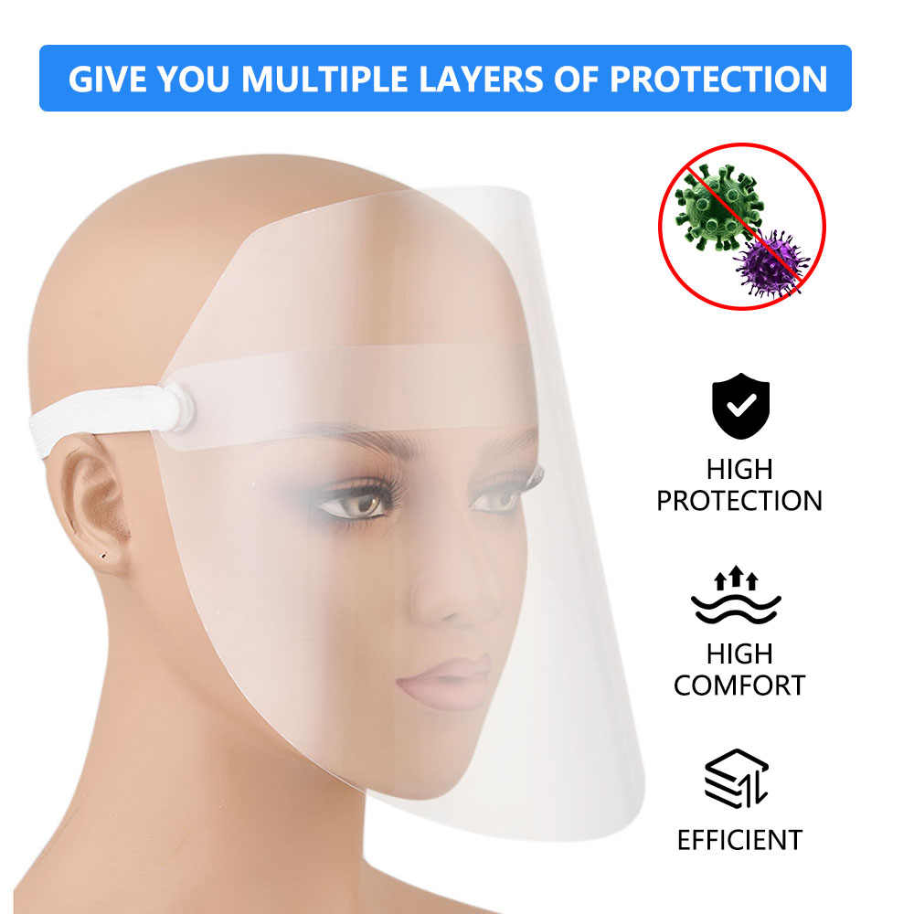 Anti-fog Mask Face Painting Oil-resistant Plastic Soot-proof Mask Multi-Function Transparent Protective Mask Full Face Unisex