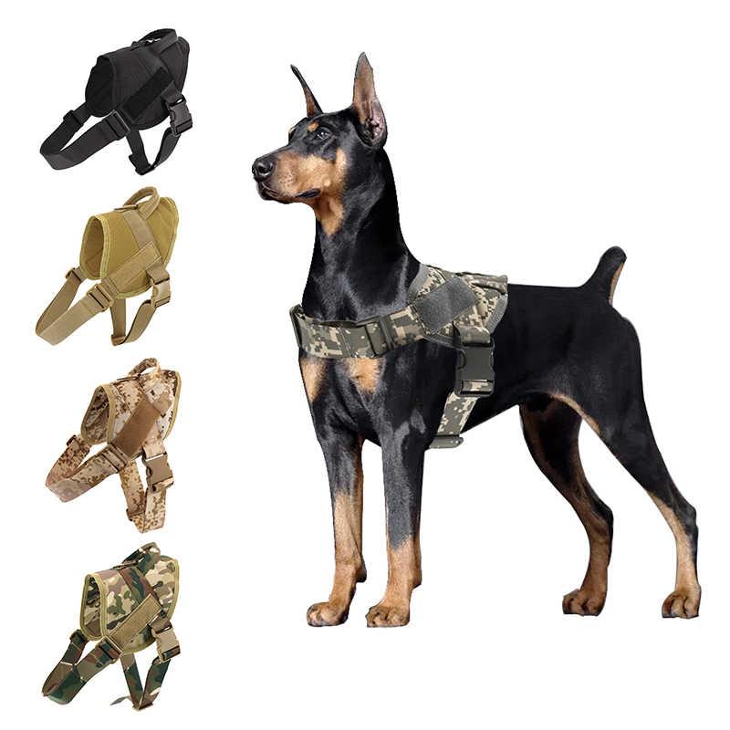 犬ハーネスK9 ウォーキング調整可能なナイロン犬の首輪ベストバンジー犬の鎖ハーネスためlarges犬ジャーマンシェパード