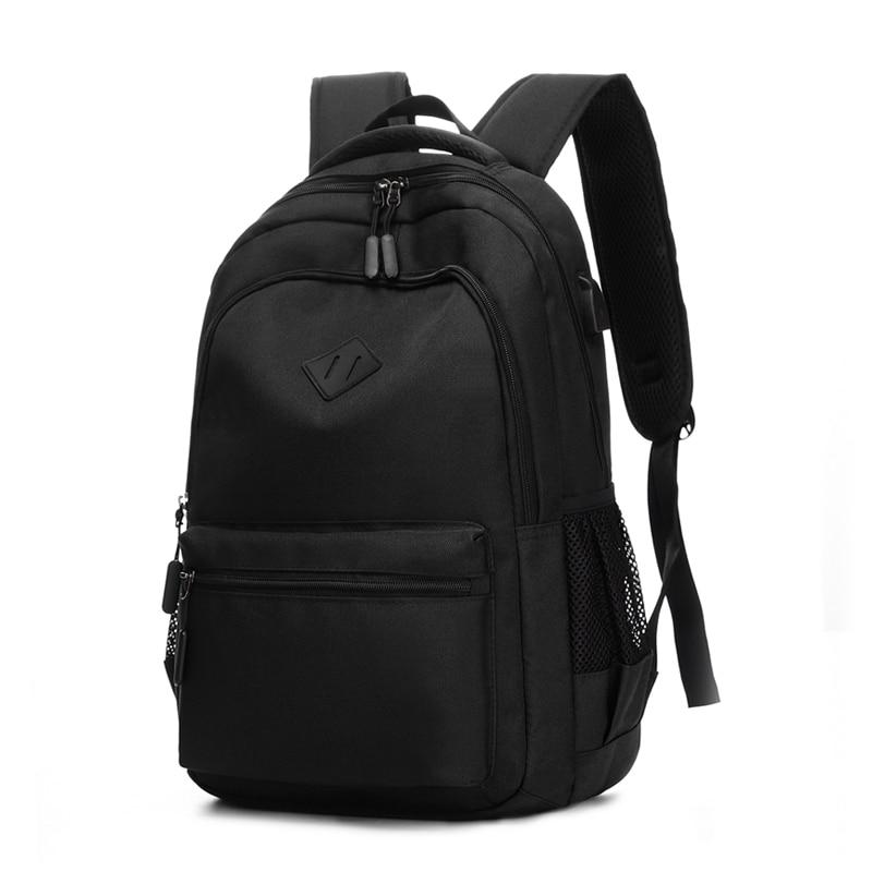 2019 Casual College Laptop Backpack USB Charging Waterproof Nylon Backpack Women Travel Backpack Vintage School Bag Male Mochila