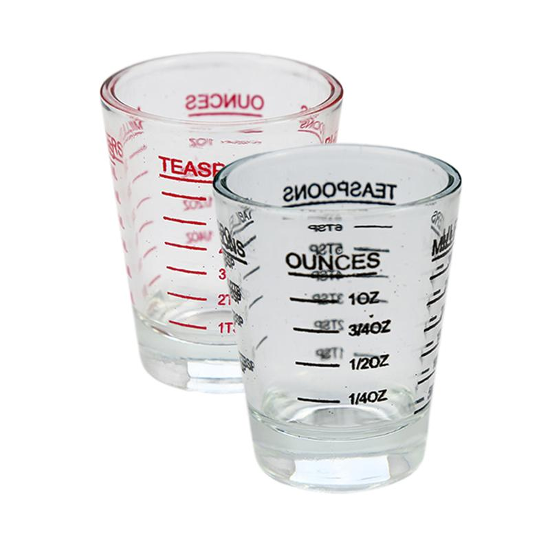30ML Glass Cup Measuring Cup Espresso Shot Glass Liquid Measurement Glass Ounce Cup With Scale Kitchen Measure Tool Supplies