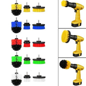 3pcs Electric Washing Brush Electric Drill Set Power Scrubber Screwdriver Scrub For Car Bathroom Kitchen Cleaning Tools