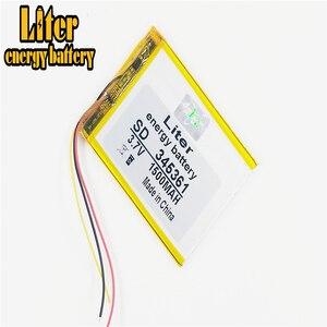 Image 3 - 3 linia 345361 3.7V 1500mAh 355060 litowo polimerowy akumulator li po do Mp3 MP4