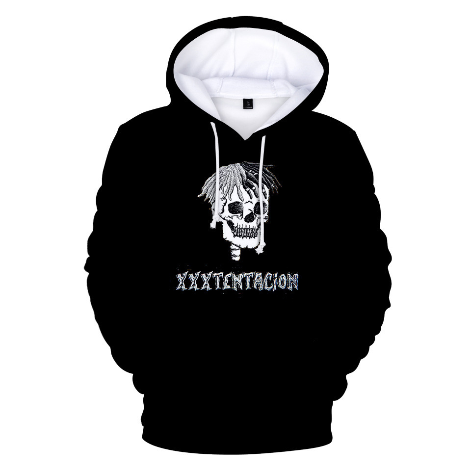 Rapper XXX Tentacion XXXTentacion 3D Hoodies Men/boys Pullover Front Pocket Streetwear Cotton Sweatshirt Hip Hop Outerwear