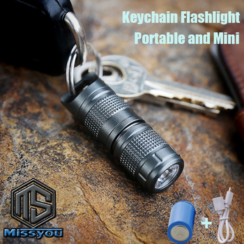 Mini Keychain Flashlight Pocket LED Flash Light USB Rechargeable Portable Waterproof Linterna Torch Small Lanterna With Battery