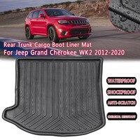Esteira de inicialização forro traseiro do tronco para jeep grand cherokee wk2 2012 2013 2014 2020 carga piso bandeja tapete lama almofada kick guarda protetor      -