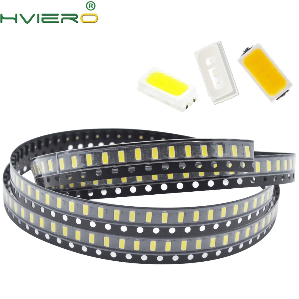 100X 3014 White Red Green Blue Yellow SMD SMT Beads 10-12LM Lamp Light 6000-6500K 1.8~3.4V 20MA LED Light Beads Emitting Diodes