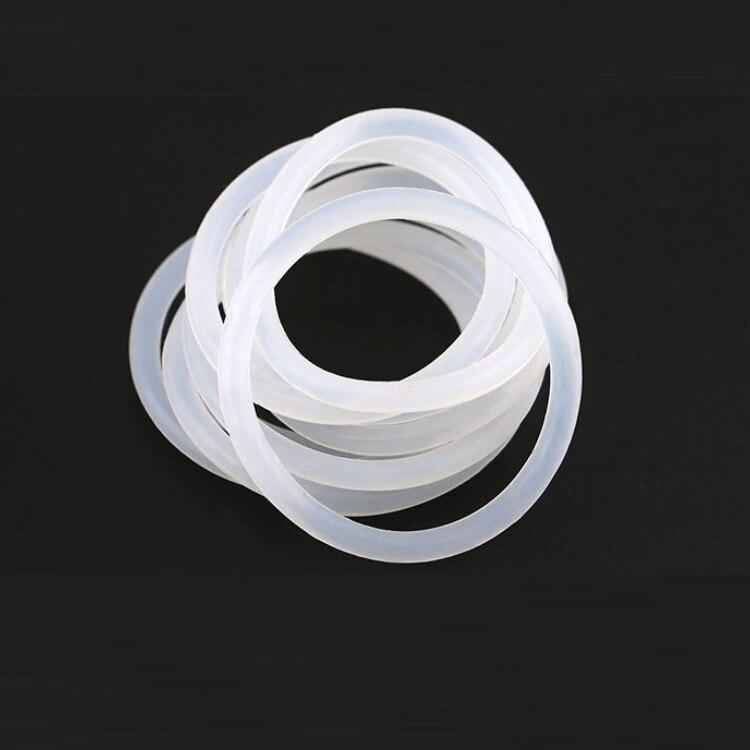 10pcs ความหนา CS 2 มม.OD 5 ~ 80 มม.ซิลิโคน O แหวนปะเก็นเกรดอาหารเครื่องซักผ้ากันน้ำยางฉนวนรอบ O รูปร่างซีลสีขาว