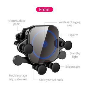 Image 3 - 15 w qi 자동차 무선 충전기 유도 usb 마운트 자동 클램핑 qc3.0 빠른 무선 충전 아이폰 11 프로 삼성 sikai
