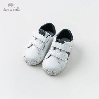 DB12911 zapatos deportivos blancos de primavera para bebé de David Bella zapatos sólidos casuales de niño recién nacido