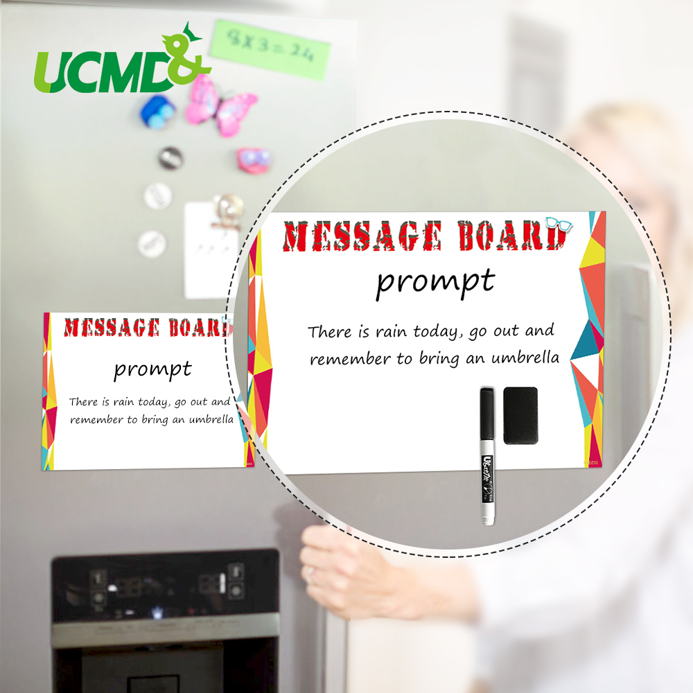 A4 Erasable Magnetic Whiteboard Office Notice Memo Message Board Kitchen Refrigerator Menu Daily Plan Reminder Decor Sticker
