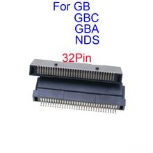 Ranura para lector de tarjetas de cartucho, para GB GBC, GBA, NDS, 32 Pines, para Nintendo DS, NDSL, GBA, ranura para lector de tarjetas, pieza de reparación