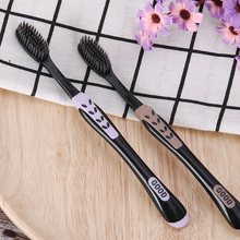 Black Bamboo Brush Nano-Tooth-Brush Dents Soft-Charcoal Brosse Eco-Friendly Adults 2pc/Pack