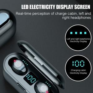Image 4 - Auricolari Wireless F9 Bluetooth V5.0 TWS auricolare Stereo Auto coppia Sport auricolare potenza auricolare per IOS Android
