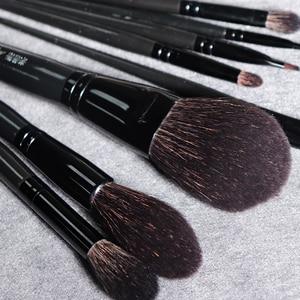 Image 2 - My Destiny 9Pcs Makeup Brushes Set Natural Black Wood Goat Hair Powder Highlighter Eyeshadow Make up Brush