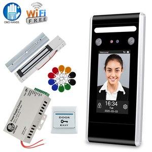 RFID Wi-Fi система контроля допуска к двери, набор, биометрическая клавиатура с паролем лица + источник питания + электронные замки с программным...