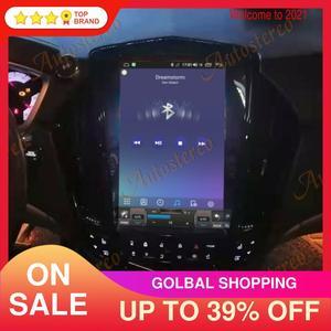Image 1 - Para cadillac srx 2008 + android 10.0 tesla rádio estilo vertical unidade central de navegação gps do carro multimídia player rádio gravador fita