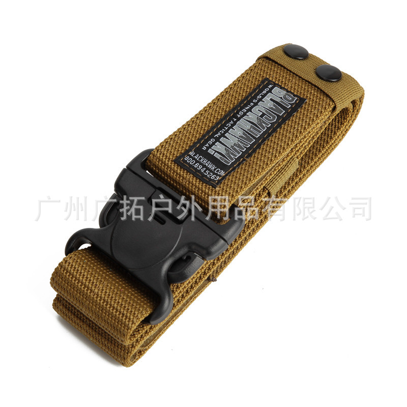 New Products Blackhawk Tactical Belt Outdoor Leather Belt American-Style CQB Canvas Belt Workwear Armed Military Training Outdoo