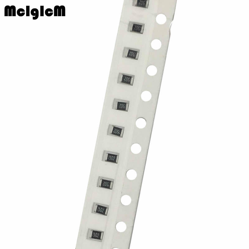 48.15руб. 30% СКИДКА|MCIGICM 100pcs 105 smd chip resistor resistors 0R 10M 1/8W 1K 4.7K 5.1K 10K 22K 47K|smd chip resistor|chip resistors|smd resistor 0805 - AliExpress