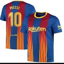 Ansu fati nova camisa adulta 20 21 qualidade superior camisa barcelonaes messi griezmann de jong suarez pique o. DEMBELE 2020 2021 Camisa